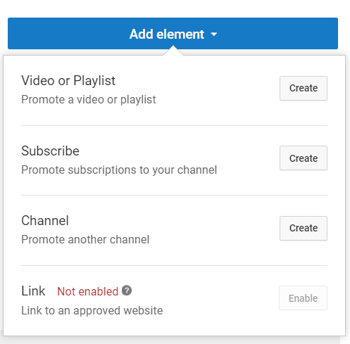Adding elements to your Youtube video
